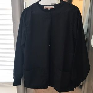 Black scrub lab jacket size small